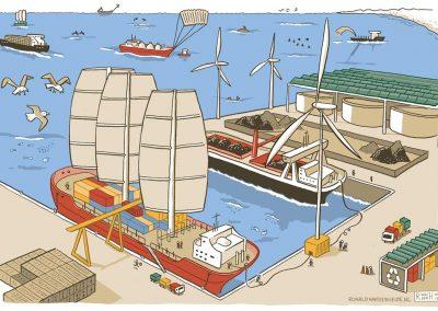 illustraties-toekomst-noordzee-scheepvaart-Ronald-van-der-Heide