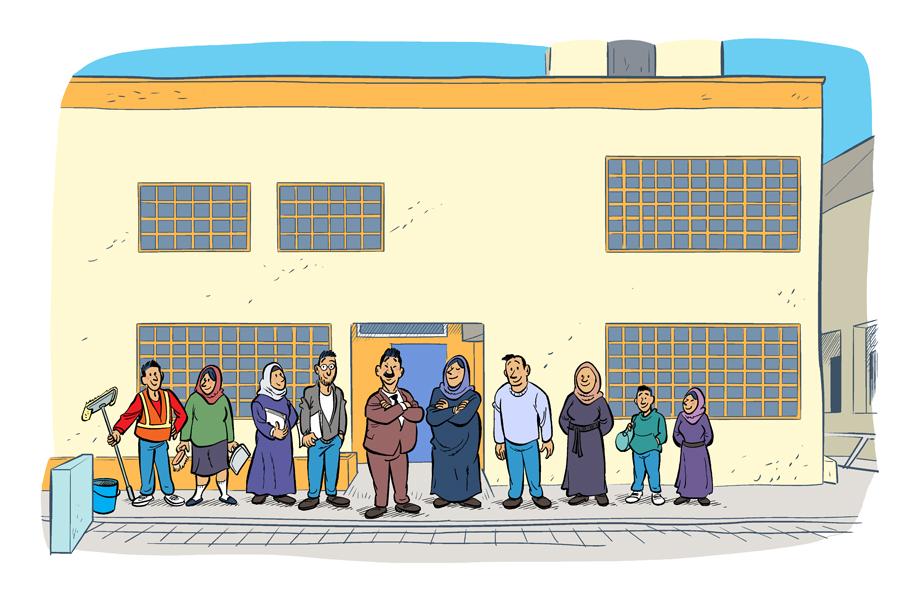 Illustraties NRC en Unicef Jordanië