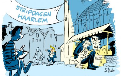 Live tekenen stripdagen Haarlem