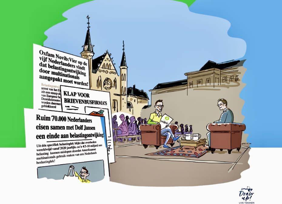 Actie Oxfam Novib Belastinglek Gevisualiseerd