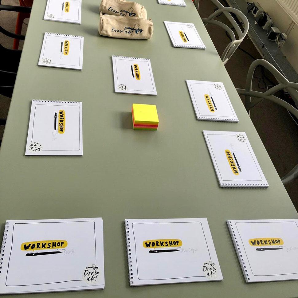 De workshop boekjes liggen klaar