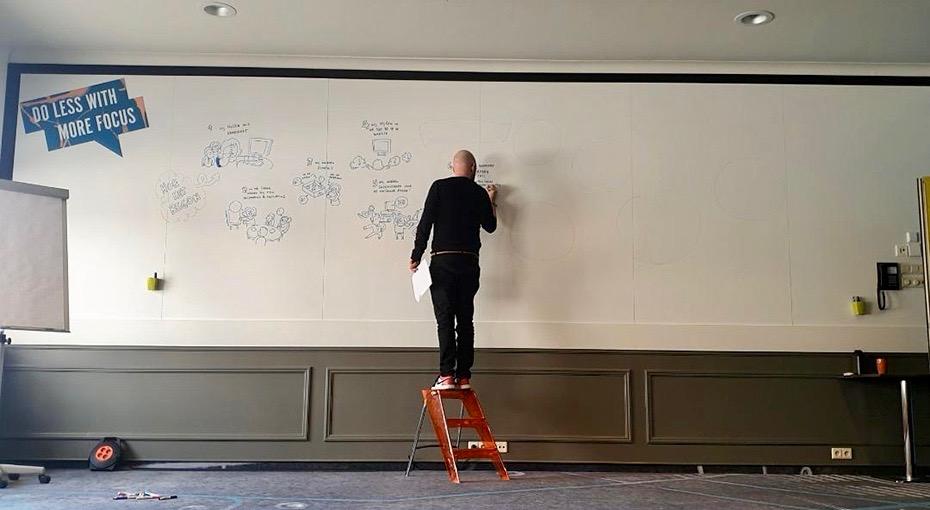 Rob van Barneveld eenzame sneltekenaar voor whiteboard_Drawup!